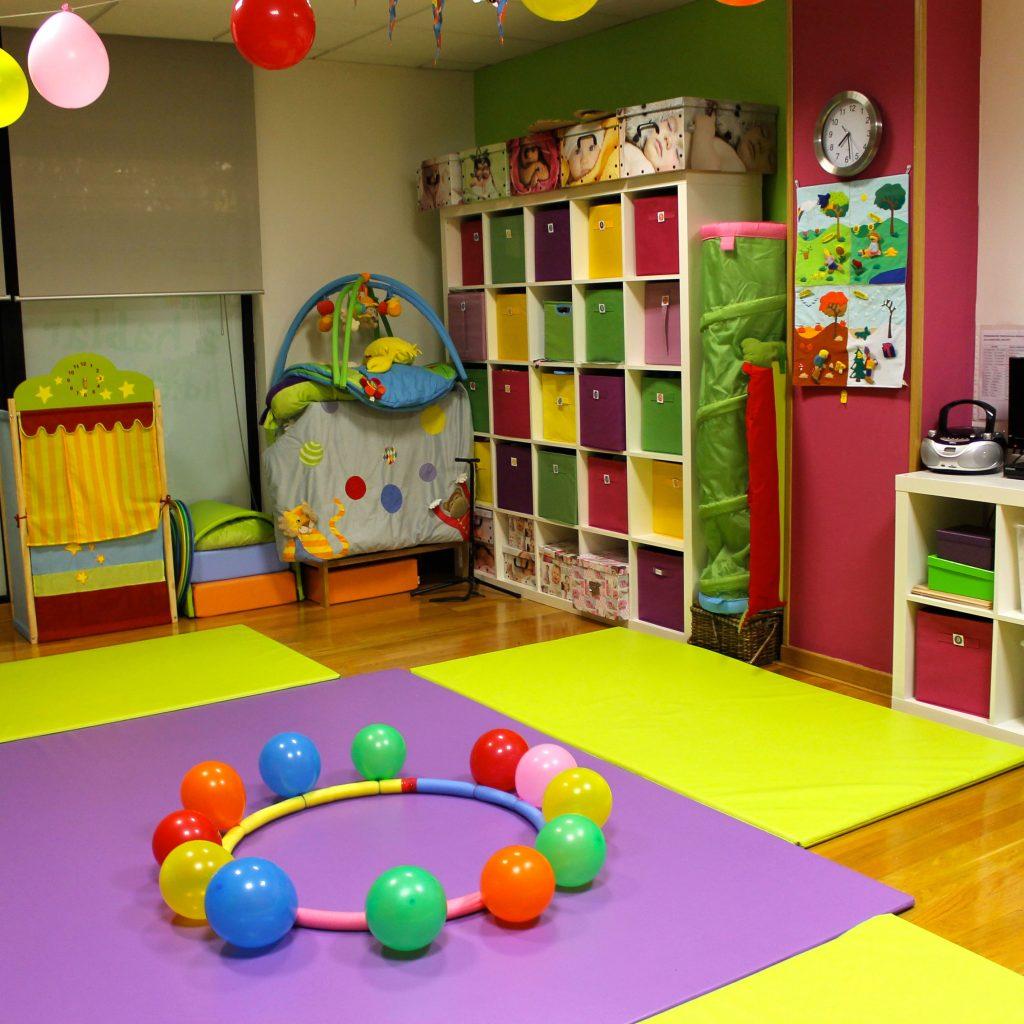 Aula de bebés en el centro de Área Central de A casa das linguas