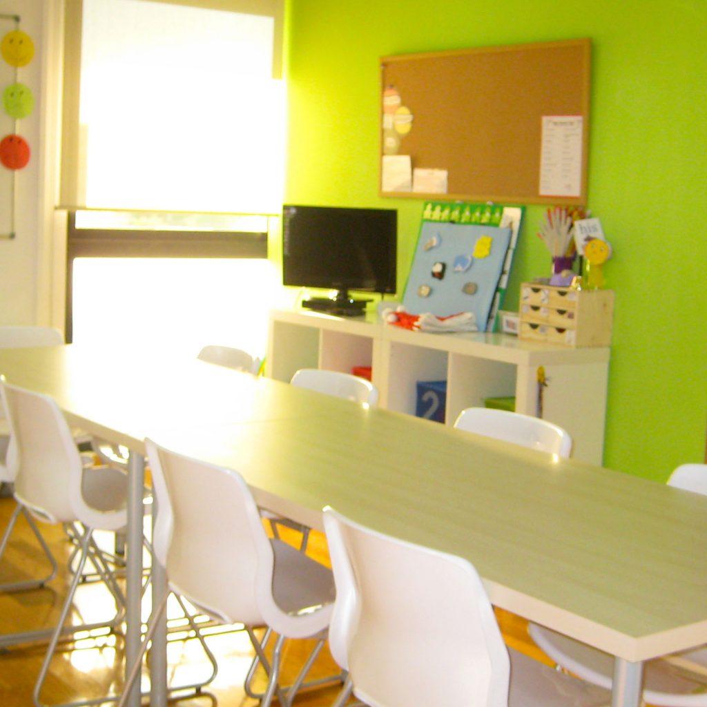 Aula en el centro de Área Central de A casa das linguas
