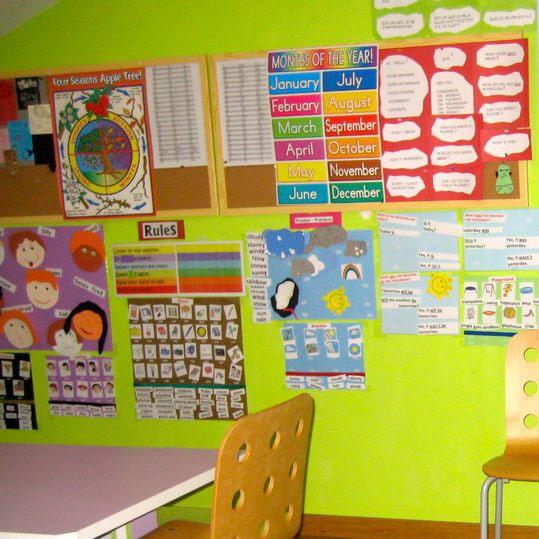 Aula en el centro de Casas novas de A casa das linguas