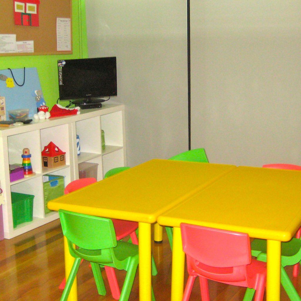 Aula de niños en el centro de Área Central de A casa das linguas