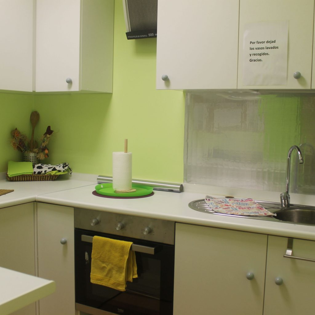 Cocina en el centro de Conxo de A casa das linguas