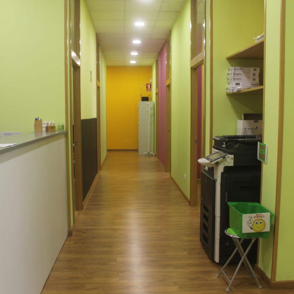 Pasillo interior en el centro de Bertamiráns de A casa das linguas