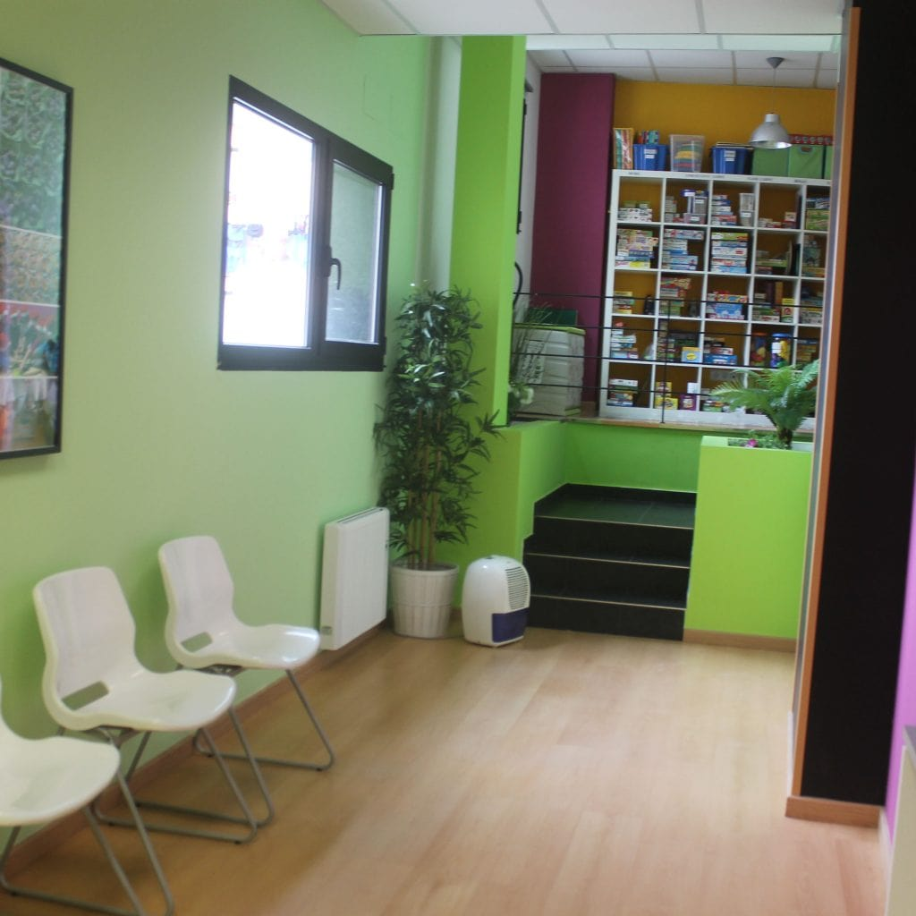 Pasillo interior en el centro de Conxo de A casa das linguas