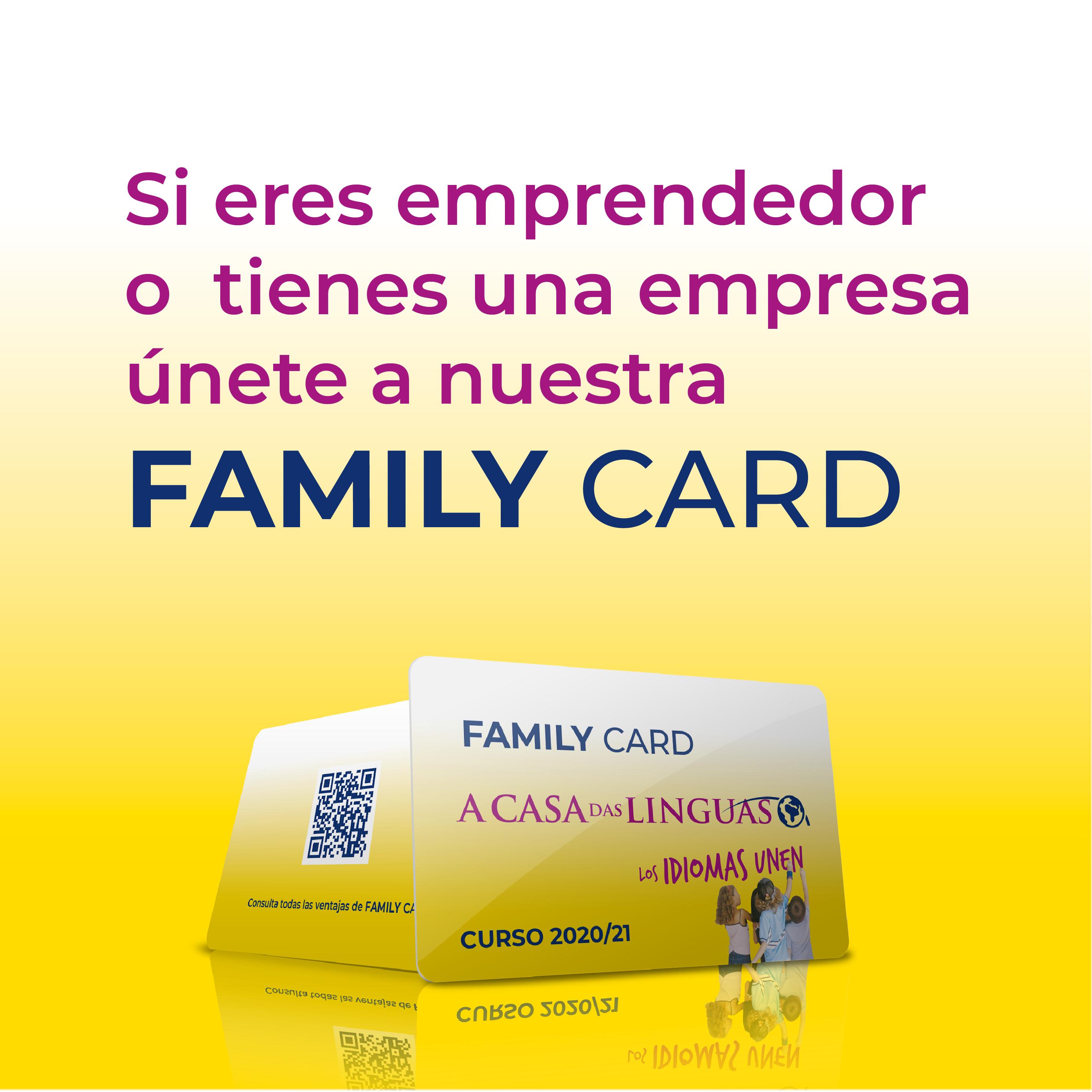 Pop up presentación de Family Card